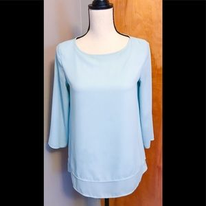 The Limited Blue Double Layered Blouse Size: XS